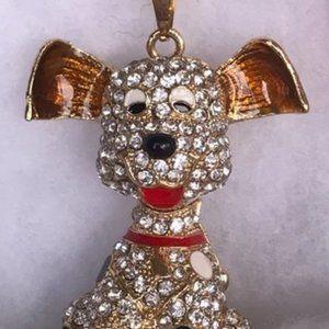 Crystal Rhinestone Dog Necklace